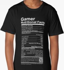 Gamer Nutritional Facts Long T-Shirt