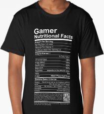 Gamer Nutritional Facts Long T-Shirt