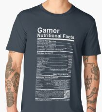Gamer Nutritional Facts Men's Premium T-Shirt