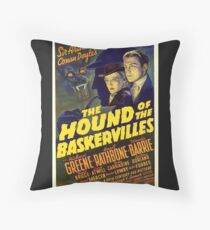 Sherlock Holmes Hound of the Baskervilles movie poster Throw Pillow