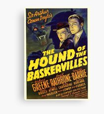 Sherlock Holmes Hound of the Baskervilles movie poster Canvas Print