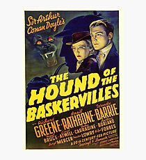 Sherlock Holmes Hound of the Baskervilles movie poster Photographic Print