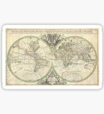 Antique Map - Sanson's Map of the World (1691) Sticker