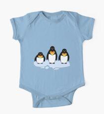 Penguin Pattern One Piece - Short Sleeve