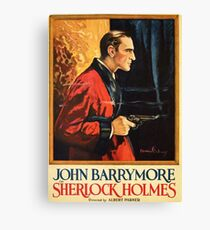 Sherlock Holmes movie-poster 1922 Canvas Print