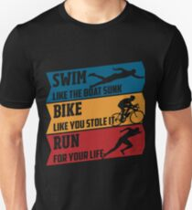 Swim - Run - Bike Slim Fit T-Shirt