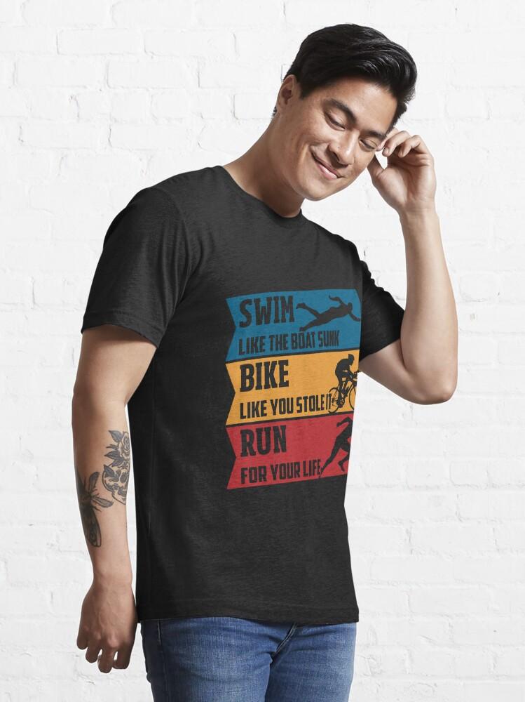 Alternate view of Swim - Run - Bike Essential T-Shirt