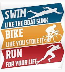 Swim - Run - Bike Poster