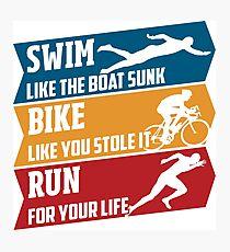 Swim - Run - Bike Photographic Print