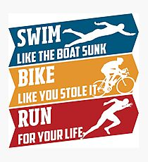 Swim - Run - Bike Fotodruck