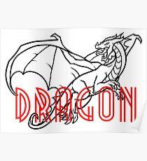 Comic Cartoon Dragon Design Poster
