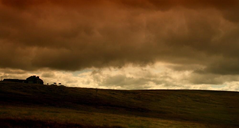 Storm on the moors by Bev Evans