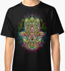 Hamsa Hand Psychedelic Amulet  Classic T-Shirt