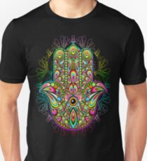 Hamsa Hand Psychedelic Amulet  T-Shirt