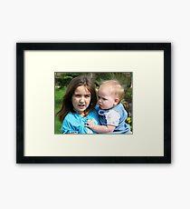 Due Nieces  Framed Print
