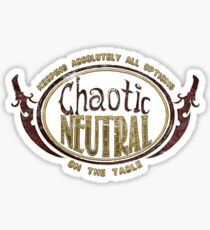 Chaotic Neutral D&D Tee Sticker