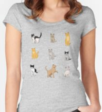 Baesic Cat Pack Women's Fitted Scoop T-Shirt