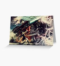 Witch train the time machine portal Greeting Card