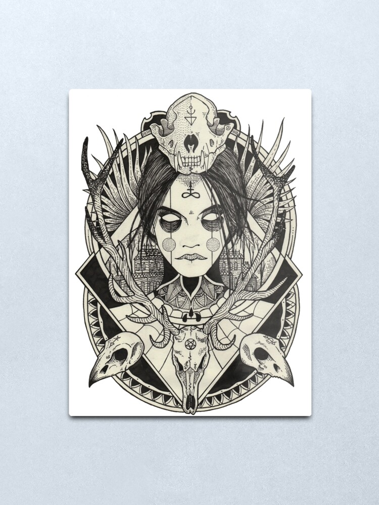 Alternate view of Witch. Metal Print