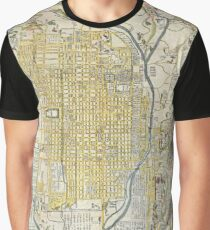 Antique Japanese Map - City of Kyoto (1696) Graphic T-Shirt