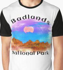 BADLANDS NATIONAL PARK SOUTH DAKOTA MOUNTAINS HIKING CAMPING HIKE CAMP BOATING FISHING 7 Graphic T-Shirt