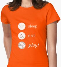 Volleyball - sleep eat play Womens Fitted T-Shirt