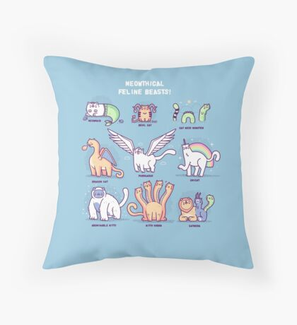 Meothical beasts  Throw Pillow