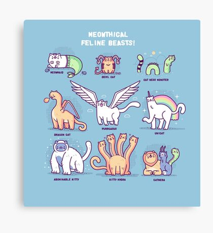 Meothical beasts  Canvas Print
