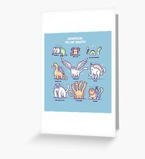Meothical beasts  Greeting Card