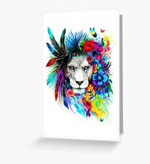 King Leo Greeting Card