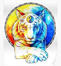 Zen Tiger Poster