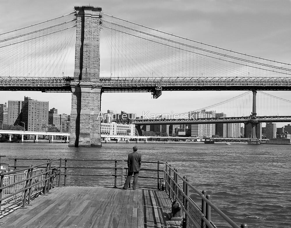 Brooklyn Bridge B&W by andykazie