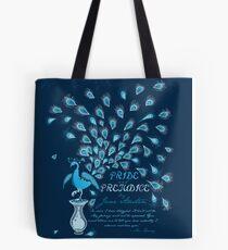 Paisley Peacock Pride and Prejudice: Classic Tote Bag