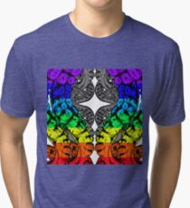 Rinbow octopus Tri-blend T-Shirt