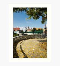 Binghamton NY Court St Landscape Art Print