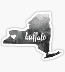 Buffalo, NY– grey Sticker