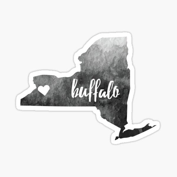 Buffalo, NY– grey Sticker