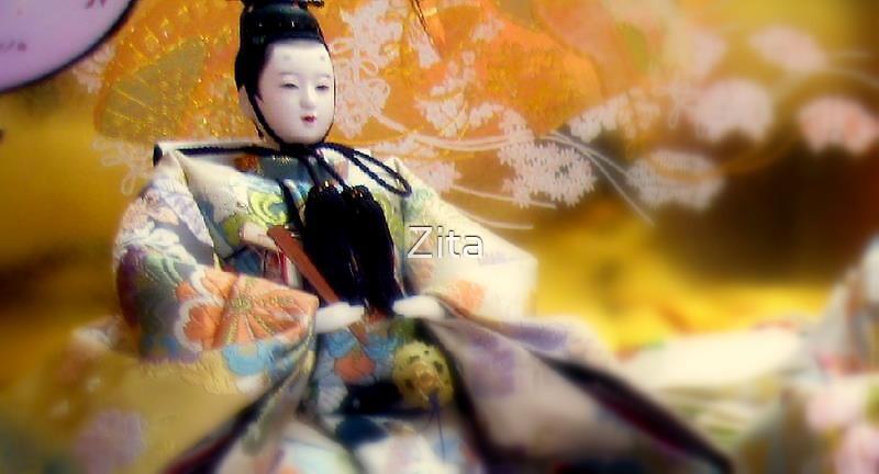 Geisha Dolls in Tokyo, Jan 2008 by Zita