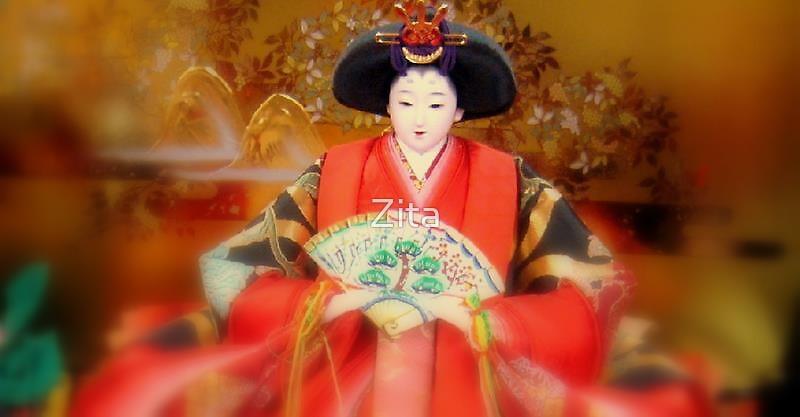 Geisha Doll in Tokyo, Jan 2008 by Zita