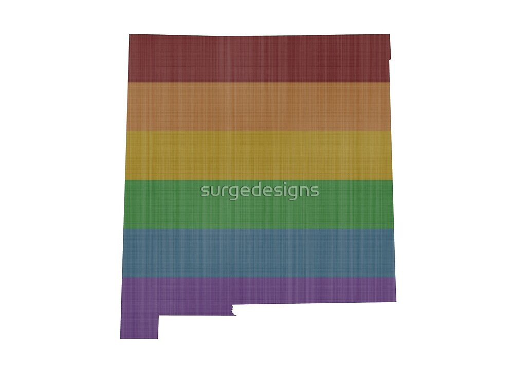 New Mexico Rainbow Gay Pride by surgedesigns