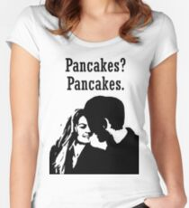 Pancakes? Pancakes. Women's Fitted Scoop T-Shirt