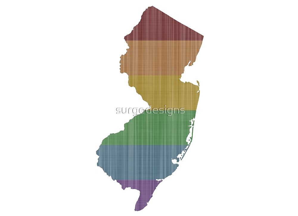 New Jersey Rainbow Gay Pride by surgedesigns
