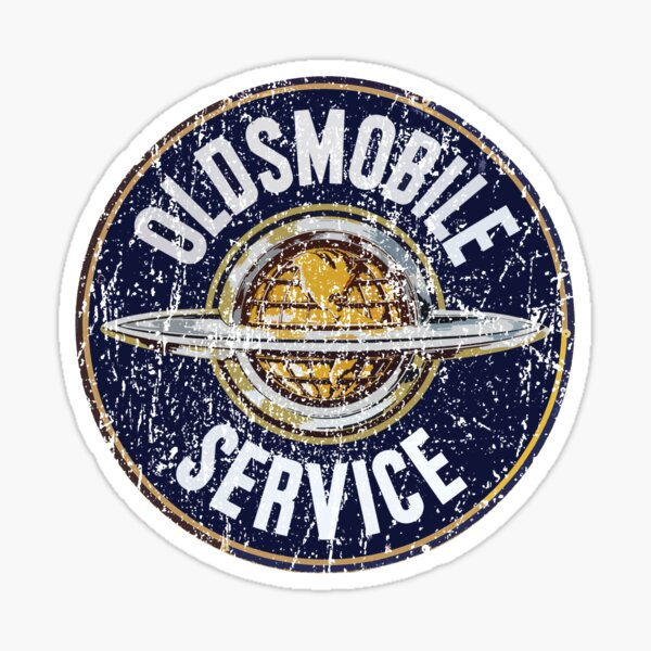 Distressed Oldsmobile Service Sticker