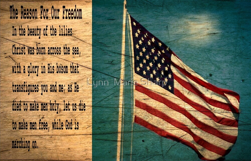 God Is Our Hope For America by Marie Sharp