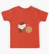Kawaii Chocolate Milk Carton and Cookie Kids Tee