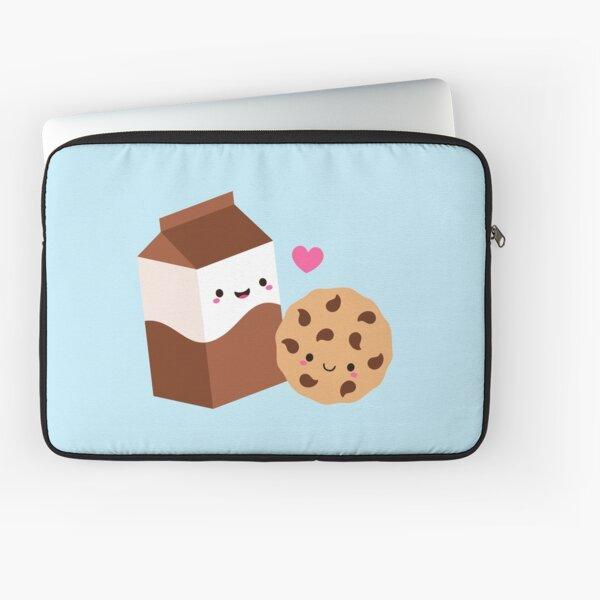 Kawaii Chocolate Milk Carton and Cookie Laptop Sleeve