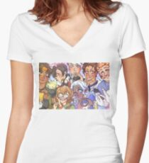 Voltron - VOLTRON Women's Fitted V-Neck T-Shirt