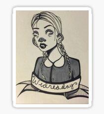 Copic Markers Wednesday Adams Sticker