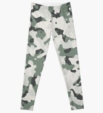 Camouflage Grey Tan Green Black Multi Terrain Pattern Leggings