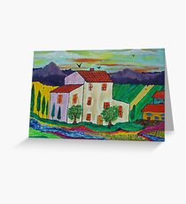 Villa in Tuscany Greeting Card